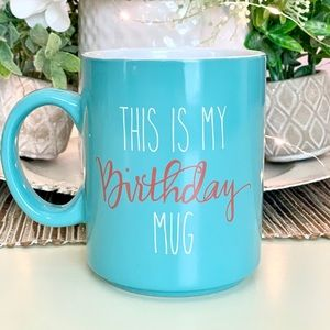 Anthropologie Birthday Mug